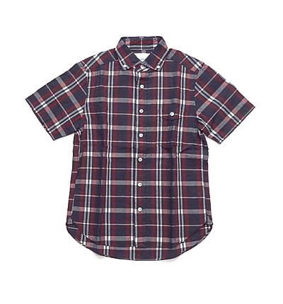 DELICIOUS半袖チェックシャツ_01