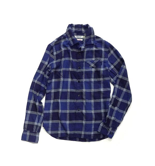 OMNIGOD綿ウールチェックシャツ