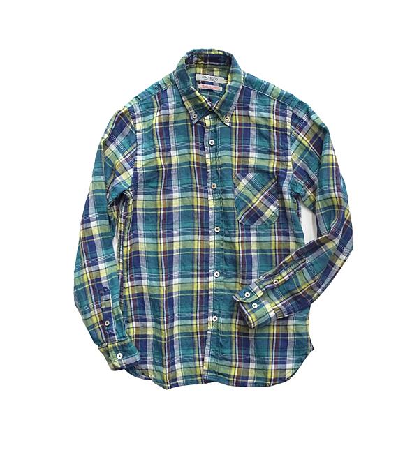 OMNIGOD麻チェックシャツ_02