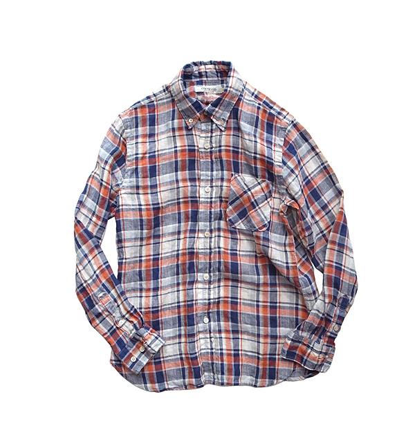 OMNIGOD麻チェックシャツ_01