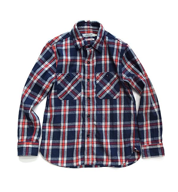 OMNIGODネルシャツ_RED