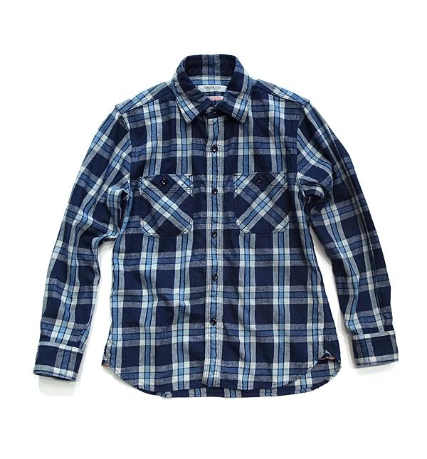 OMNIGODネルシャツ_BLU