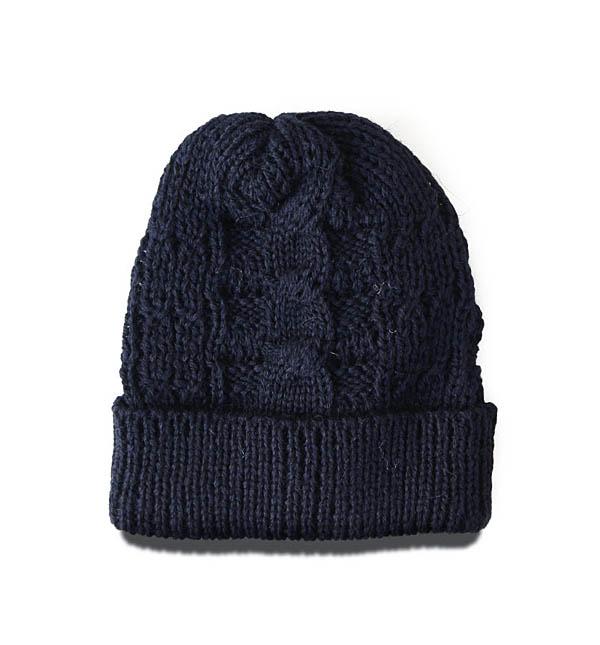 NWKニット帽_NVY